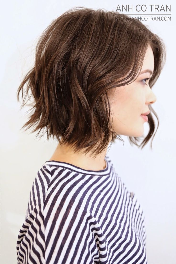 A lob is a long bob and it is a great example of one. Make your hair tousled which helps to make it look messy. You will love the rich and bright and really soft color. This is a very short jet black bob with reverse stacks. The wispy ends of layers and the irregular front fringes accentuate unique features of this hairstyle.#Allhairstylesblog #MessyBobHairstyles #MessyBobHairstyleshowtostyle #MessyBobHairstyleswithbangs #MessyBobHairstylesforthinhair #MessyBobHairstyleschoppylayeres…