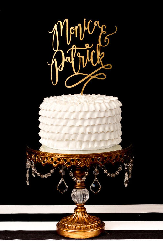 Custom First Name Cake Topper
