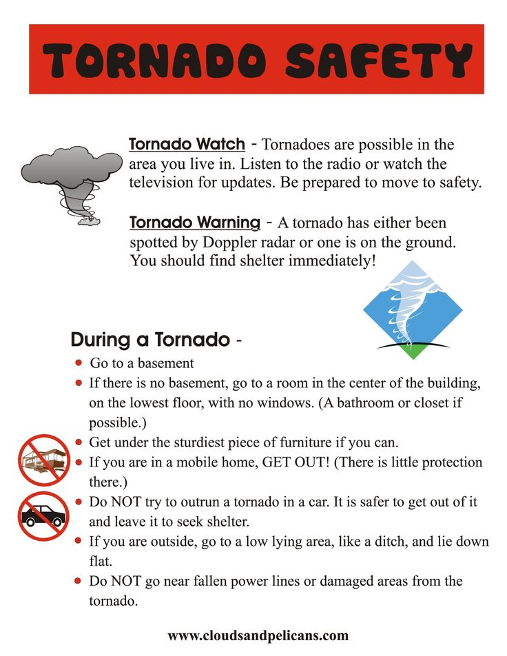 That time is upon us! Tornado Safety Tips #Tornado #Safety