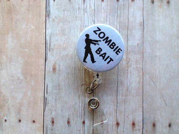 32 best name badge images on pinterest name badges name tags zombie bait name badge holder retractable id reel security badge pull on etsy solutioingenieria Image collections