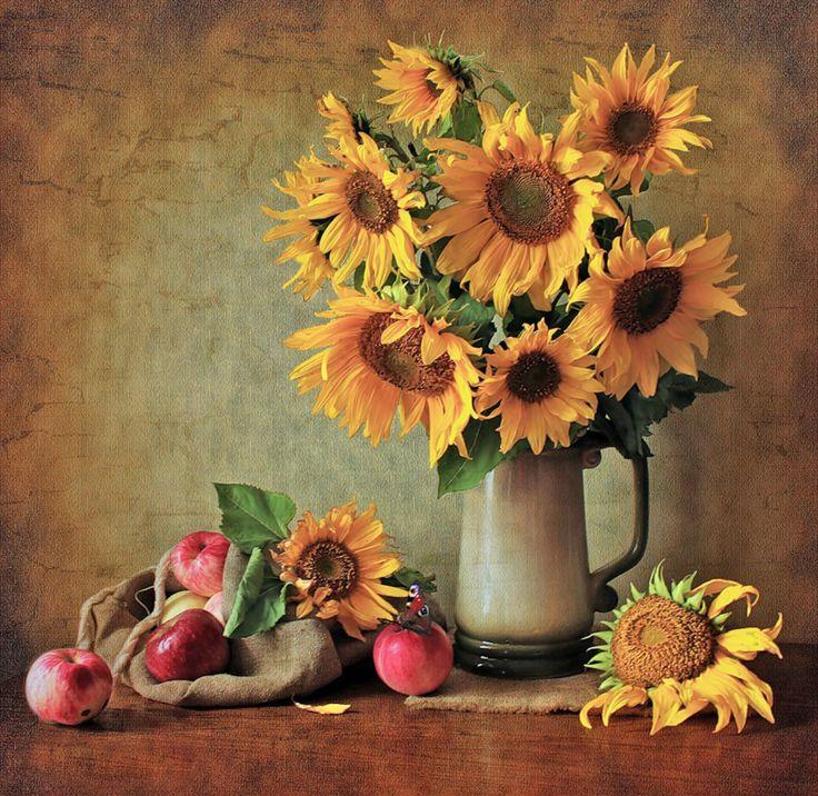 I Love Sunflowers! ‿ •*´¯ | 예술 | Pinterest | 해바라기, 꽃 및 예술