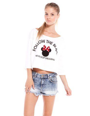 Bershka United Kingdom - BSK Minnie short sweatshirt