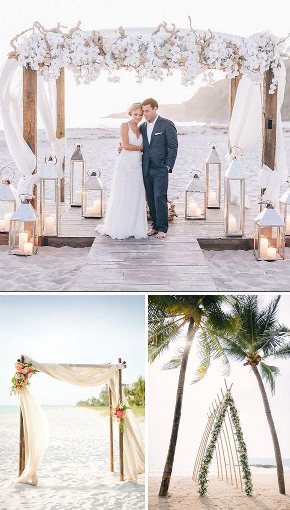 Un montón de ideas para decorar el altar de tu boda de una manera original y elegante. Haz que la ceremonia de tu boda se mágina e irrepetible.