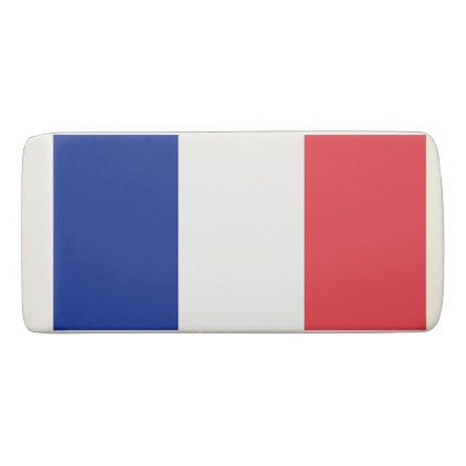 #Patriotic Wedge Eraser with flag of France - diy cyo customize personalize design
