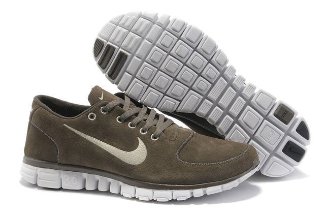 Nike Free Run Hommes Suede Shoes Gris anthracite, nike free run 3 avis
