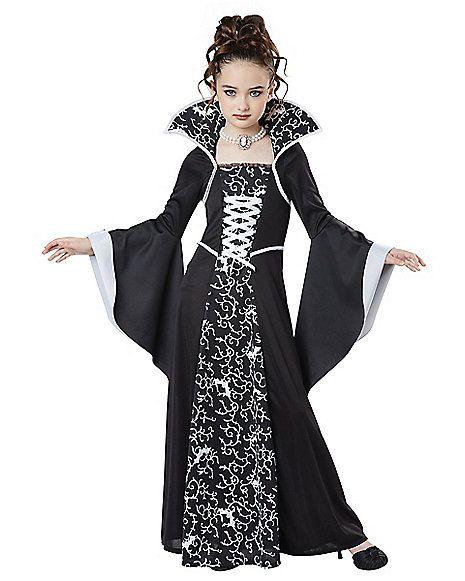 Kids Midnight Vampire Girls Costume - Spirithalloween.com