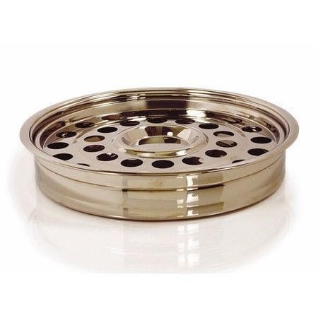 RemembranceWare One Pass Communion Tray and Disc, Brass-colored