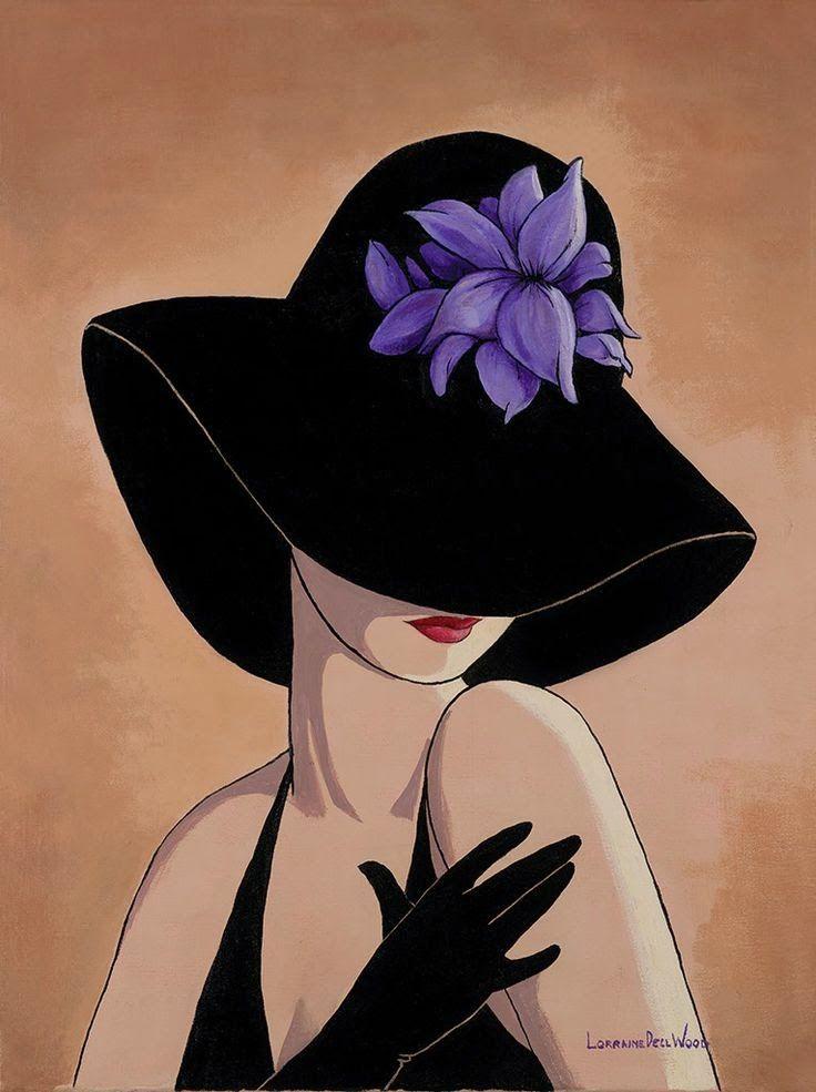Дамочка в шляпке картинки