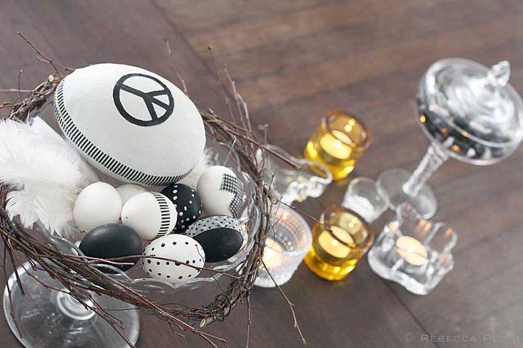 påskdekoration och DIY-ägg