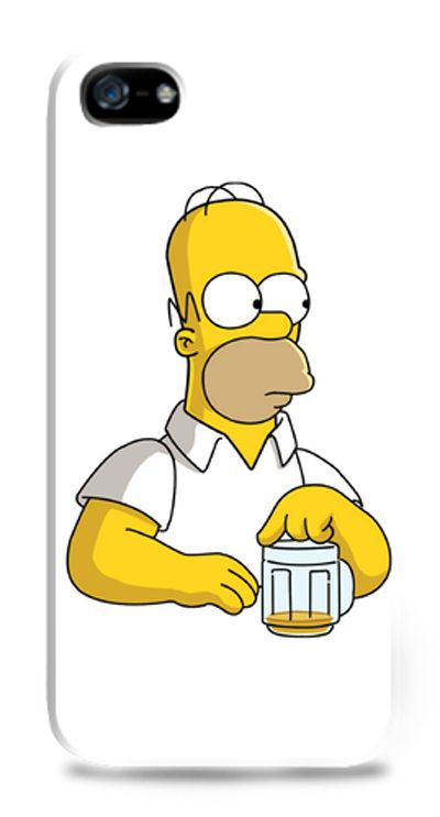 Homer & Beer iPhone case by Cuteness. Also available for Samsung Galaxy S3, S4, and Galaxy Note. http://www.zocko.com/z/JJ3B3