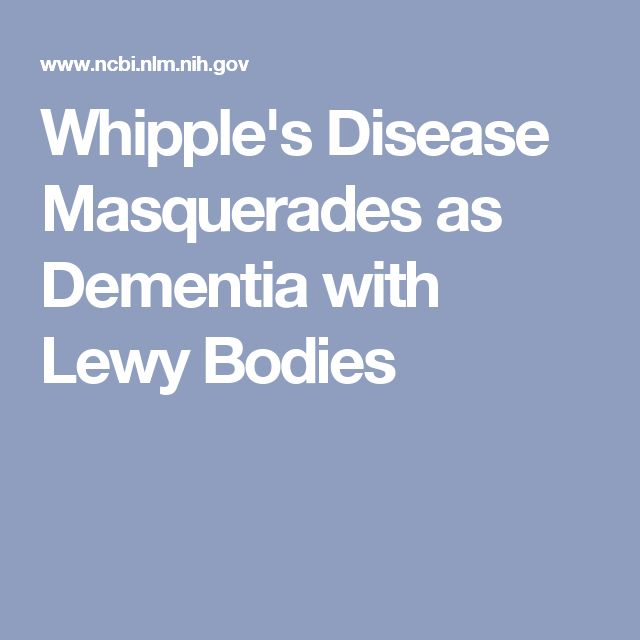 Whipple's Disease Masquerades as Dementia with Lewy Bodies