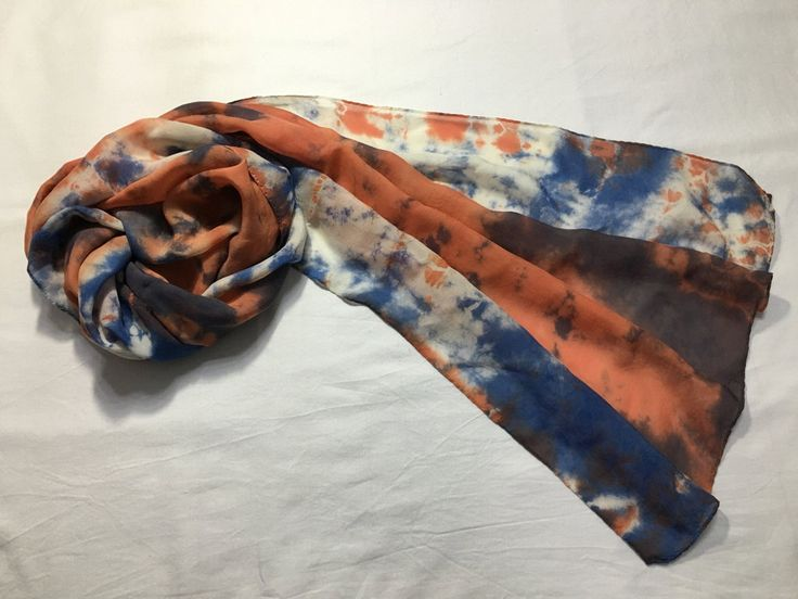 Natural dyed scarf (Silk) by sanchaeg on Etsy