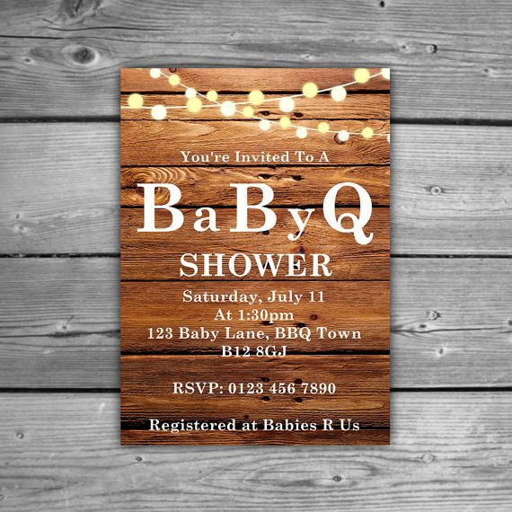 Baby Q Baby Shower Personalized Baby Shower BBQ by TheDigiSloth