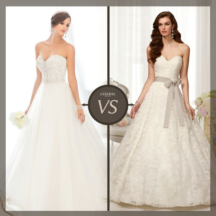 Looking to show off a cinched waist? A-line is the perfect silhouette to consider for your big day. Which of these gowns best fits your style? #EssenseBride #WeddingDresses #WeddingDress