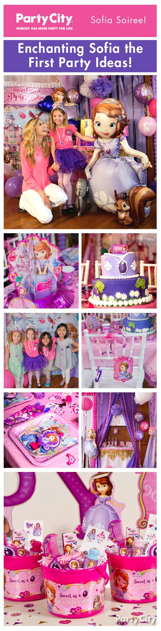 Gather the royal court for an enchanted birthday party! Make your daughter feel like she's inside the fairytale land of Enchancia with Sofia the First party ideas fit for a princess!