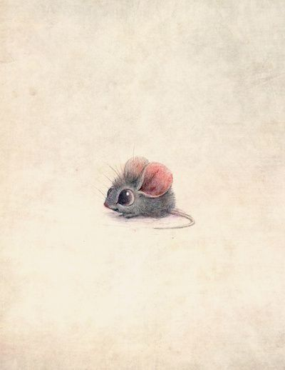 MEDIA - Hand drawn scanned image. TECHNIQUE - This cute illustration of a mouse would appeal to my target audience and I could draw multiple mice to show a collective opinion or storyboard. The drawing isnt realistic namely, the eyes and ears have been enlarged to make the image cuter to look at.