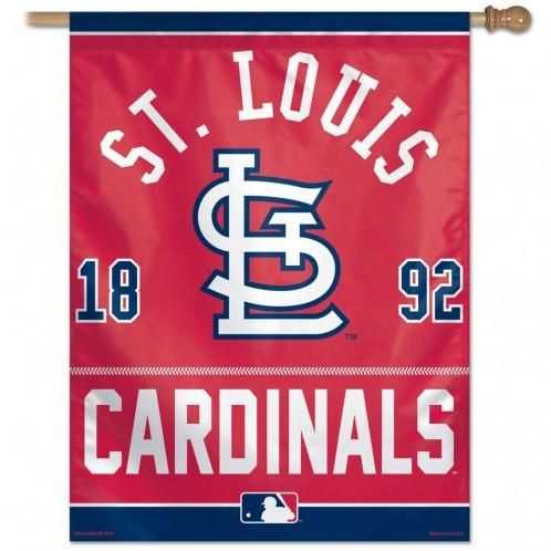 St Louis Cardinals Year of Inception Vertical Flag