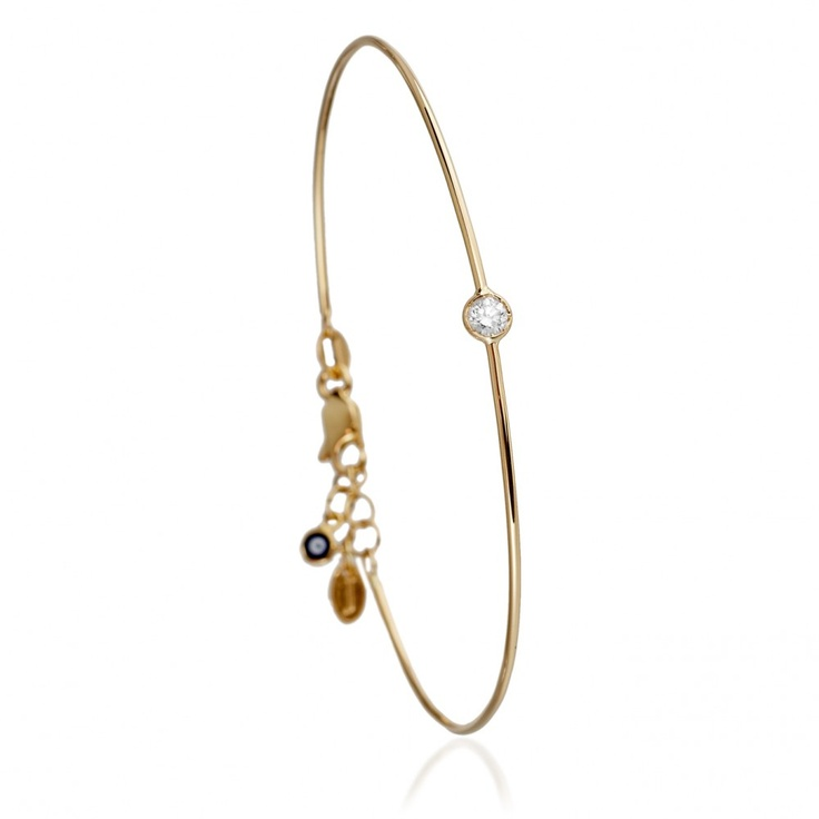 Juju Single Diamond Bangle by JADA
