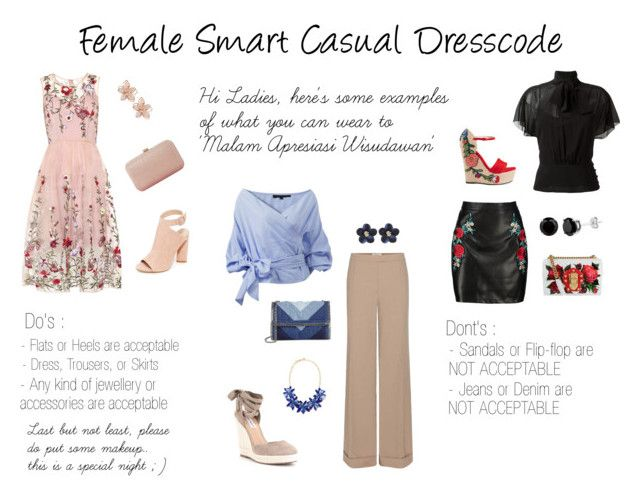 """""""Female Smart Casual Dresscode"""" by sophiologic ❤ liked on Polyvore featuring Kendall + Kylie, Dune, NAKAMOL, Nina Ricci, STELLA McCARTNEY, Kate Spade, Boohoo, RED Valentino, Dolce&Gabbana and Gucci"""