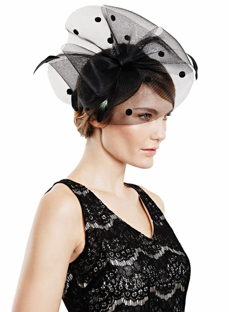 Black Spot Crin Bow Fascinator - hats & fascinators - Women - BHS