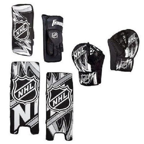 Street Hockey Goalie Pads Set Youth Team Sports Kids Play Equipment Gear Gloves #FranklinSports