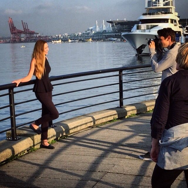 Wishpond photo shoots in the harbour
