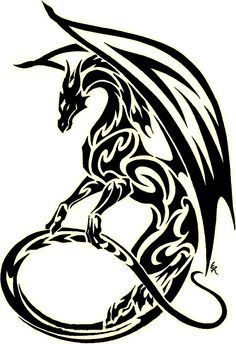1000+ ideas about Tribal Dragon Tattoos on Pinterest | Dragon ...