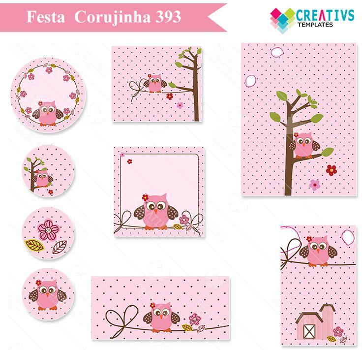 Festa Corujinha mod 393 - Infantil Menina   Creativstemplates