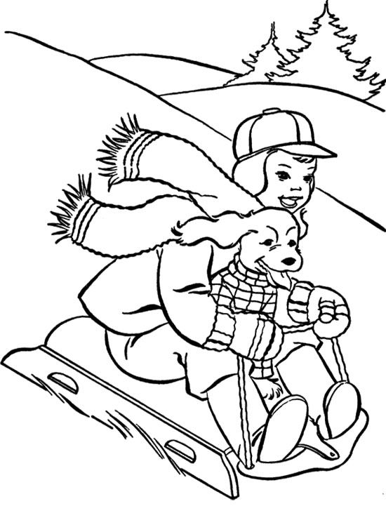 46 best Winter images on Pinterest Colouring pages Coloring