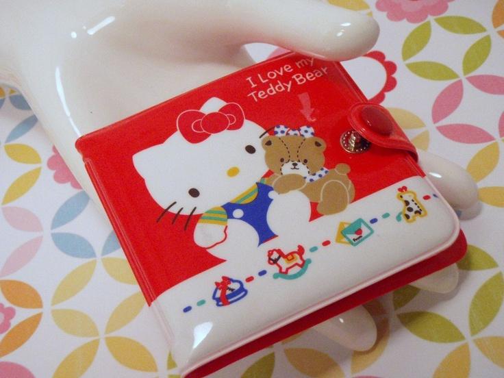 Vintage 80s Sanrio made in Japan Hello Kitty I Love My Teddy Bear Wallet. $28.00, via Etsy.