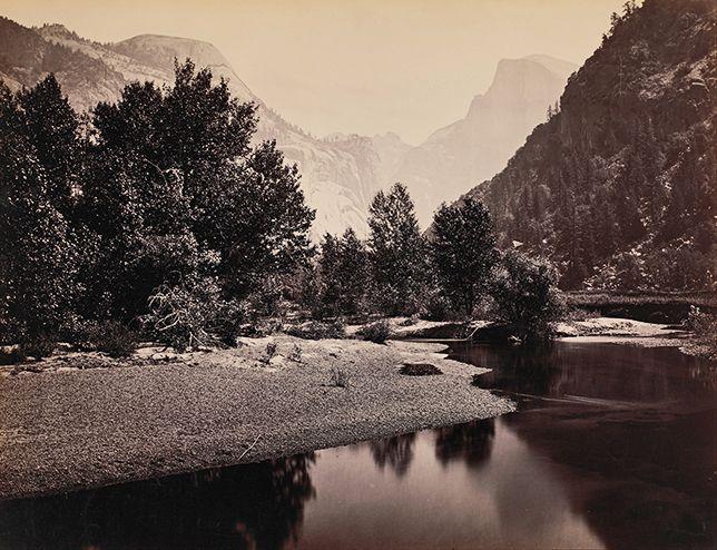 Carleton Watkins: Yosemite's domes in the distance