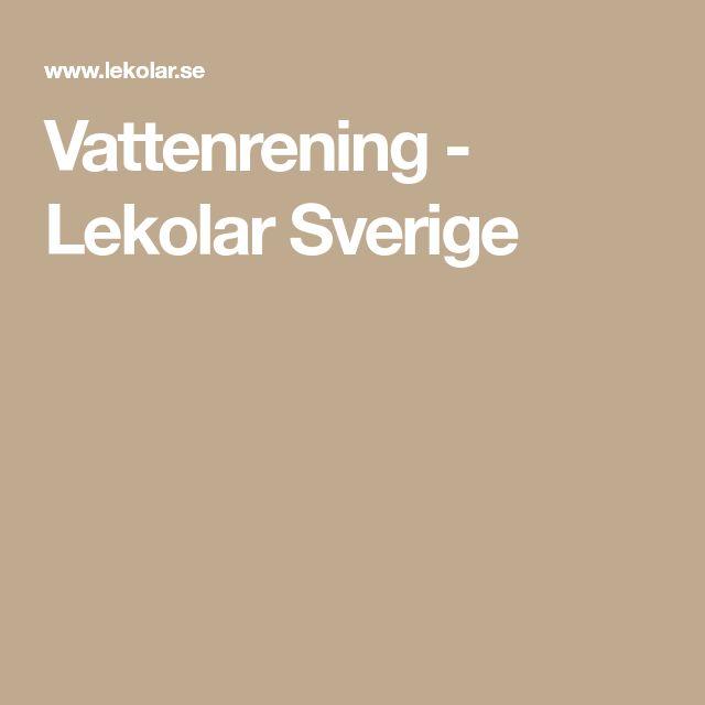 Vattenrening - Lekolar Sverige