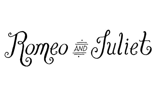 """February 21, 2014: """"Romeo & Juliet"""" lettering by Janna"""