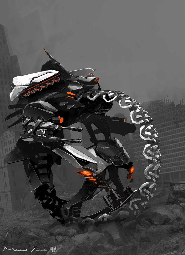 concept robots: Polaris vehicle bot concept art by Michael Hritz via cgpin.com