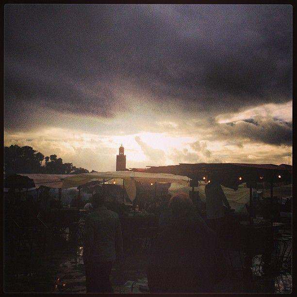Ed il sole tramonta a Marrakech