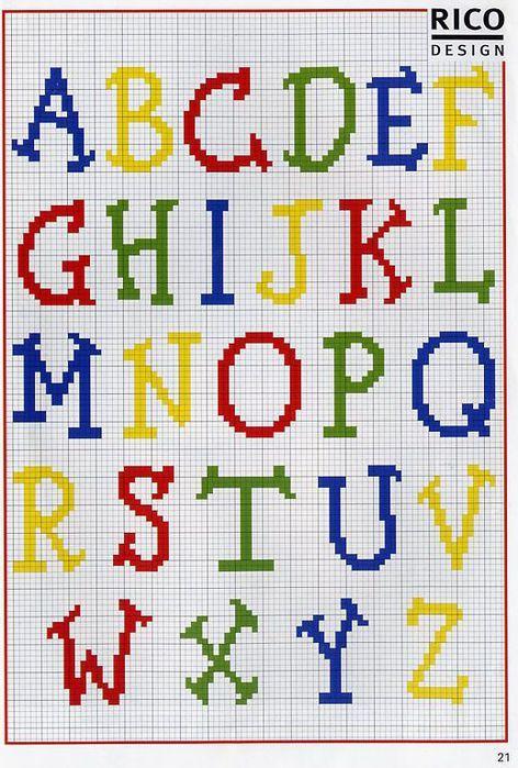 Vistoso Patrón De Crochet Alfabeto Galería - Ideas de Patrones de ...
