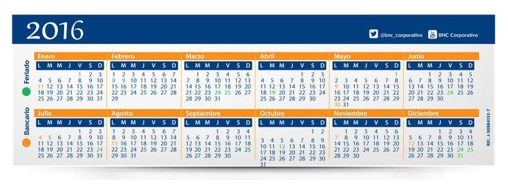 Calendarios BNC 2016