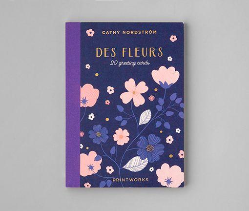 Des Fleures 20 greeting cards