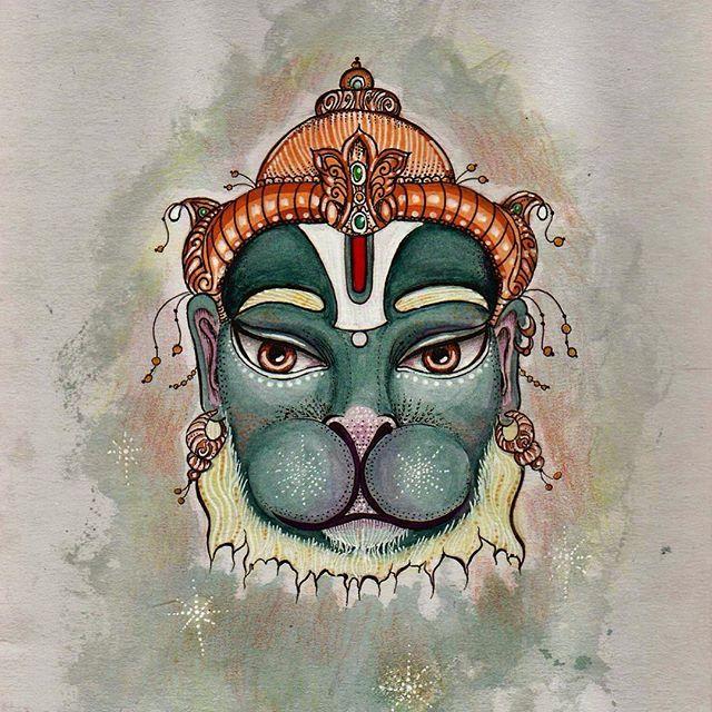 Hanuman fun with fineliners #art #fineliners #ramayan