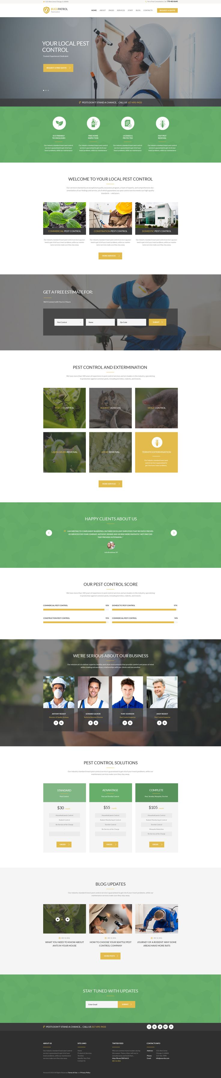 BugsPatrol - Pest Control Services WP Theme #domestic #extermination #pest • Download ➝ https://themeforest.net/item/bugspatrol-pest-control-services-wp-theme/17323354?ref=pxcr
