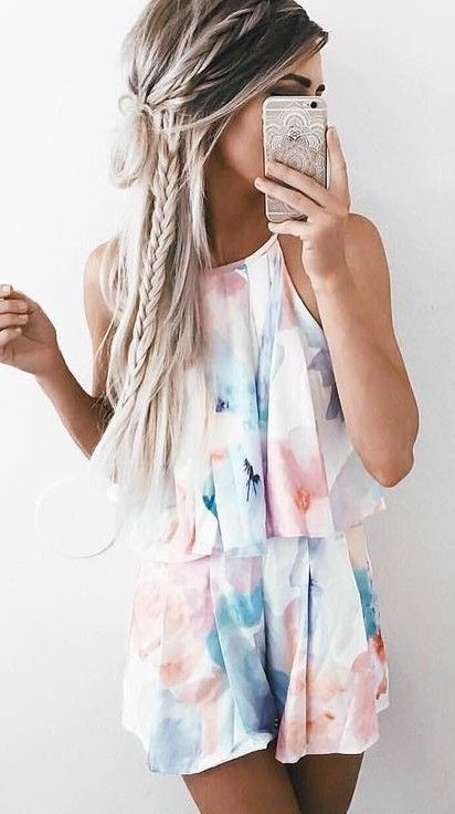 Abstract Ruffle Romper                                                                             Source