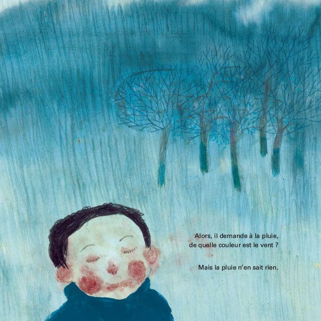 """""""De quelle couleur est le vent ?"""" (2011). Illustration et texte d'Anne Herbauts."""