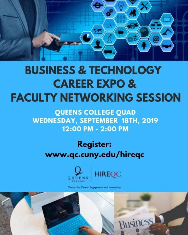 Business And Tech Career Expo Coming Up Soon Queenscollegenewyork Nyc Queens Newyork Career Hireqc Path Tech Career Technology Careers Resume Services