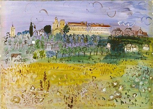 Raoul Dufy - paysage rural langres
