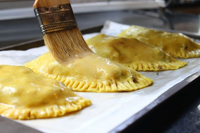 Jamaican Patties....a good friend of mine was born in Jamaica and she brought these once to a party and I fell in love instantly...amazing!