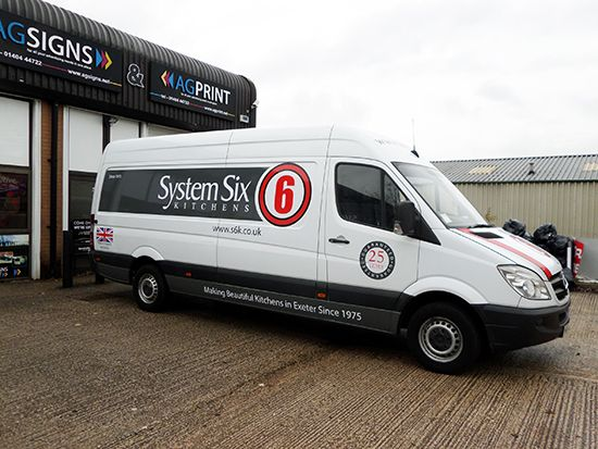 We have recently rebranded the exeter based company system six fleet of vans to