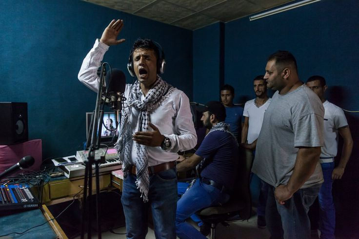 """The political songs, which have a strong following among teenagers, are """"made as a way to make the Palestinian people get up and resist,"""" said a Ramallah music shop owner."""
