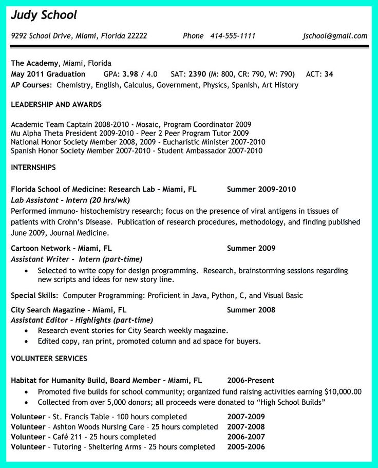 awesome The Perfect College Resume Template to Get a Job, Check more at http://snefci.org/perfect-college-resume-template-get-job