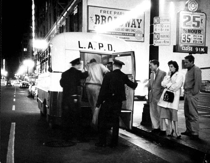 Historic Los Angeles — Actors Nick Adams, Dennis Hopper, and actress...