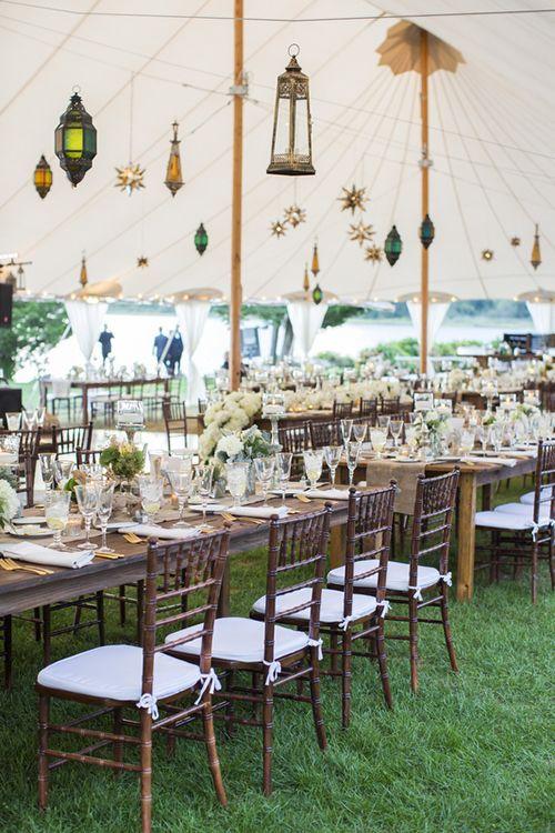 Brides: A Romantic Outdoor Wedding in Bristol, Rhode Island